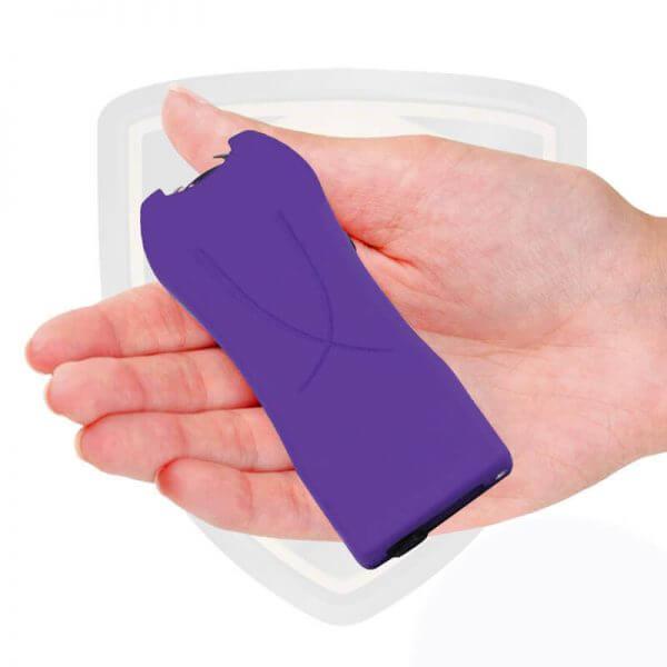 mini stun gun with flashlight purple