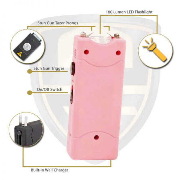 small pink taser