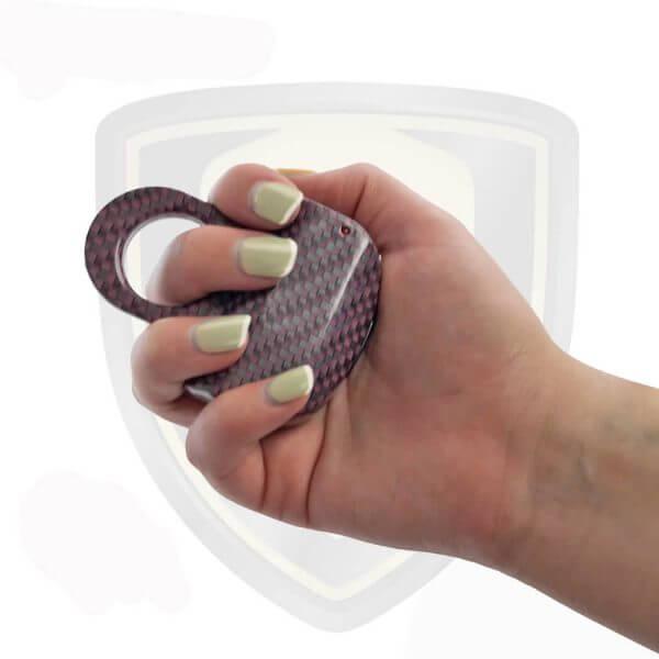 Mini Taser Ring Carbon Fiber Maroone