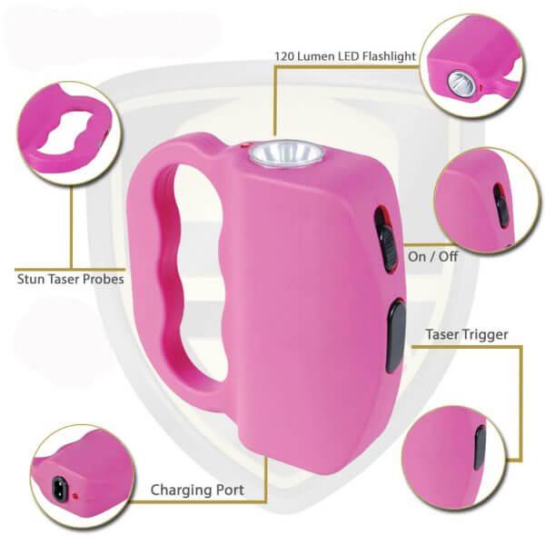 Pink Knuckle Stun Gun Features And Benifits