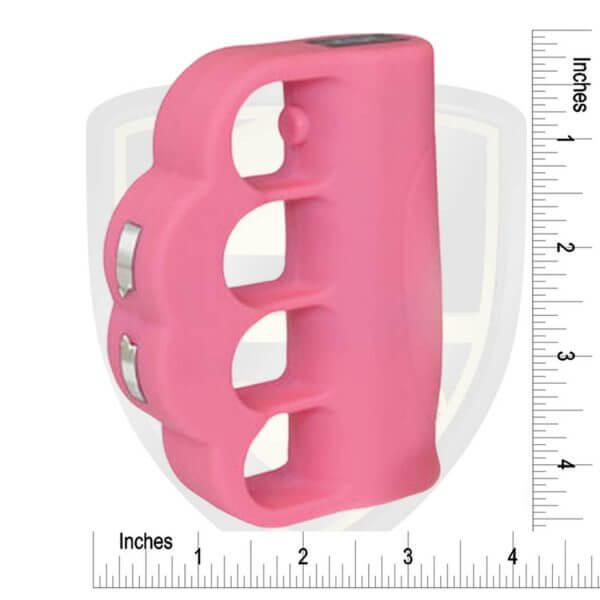 pink brass knuckles with taser zap stun gun