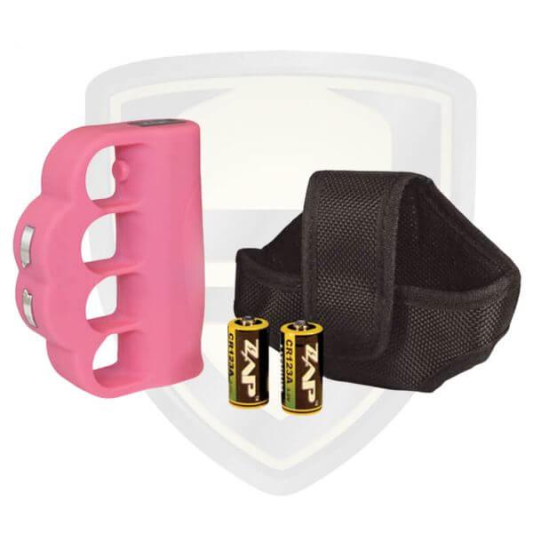 pink zap blast knuckle zap stun gun
