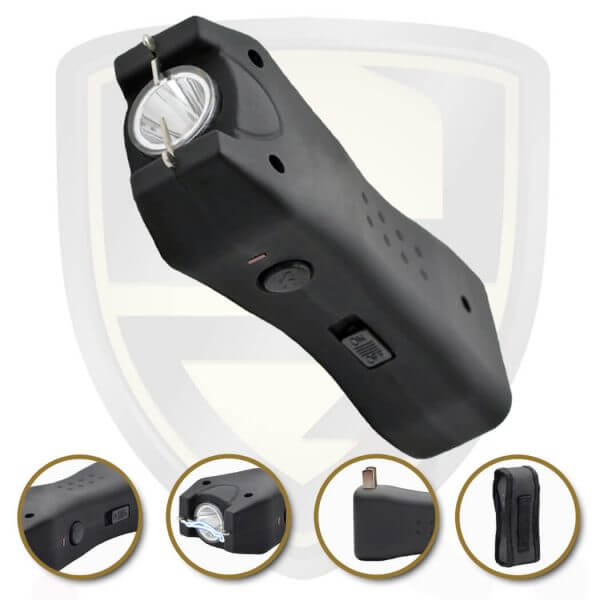 compact stun gun black