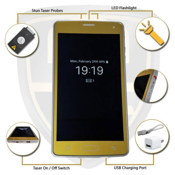 iphone stun gun features