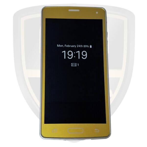taser cell phone gold