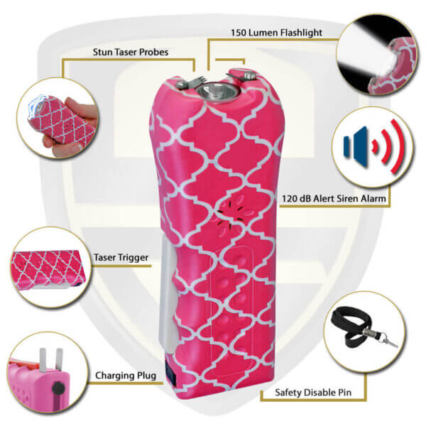 best quality stun gun for women self defense pink quilt Ladies choice