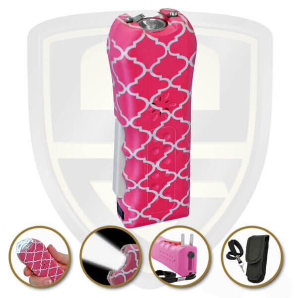 best stun gun disable pin alarm model pink quilt pattern finish