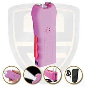 best stun gun pink with disable pin wrist strap