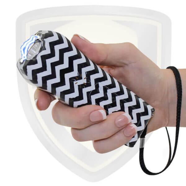 best stun guns on the market for women self defense zebra black and white color