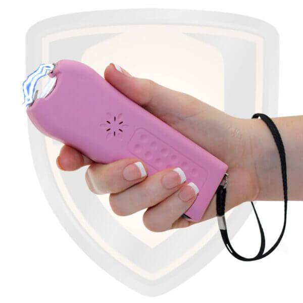 highest amperage pink stun gun with alarm feature