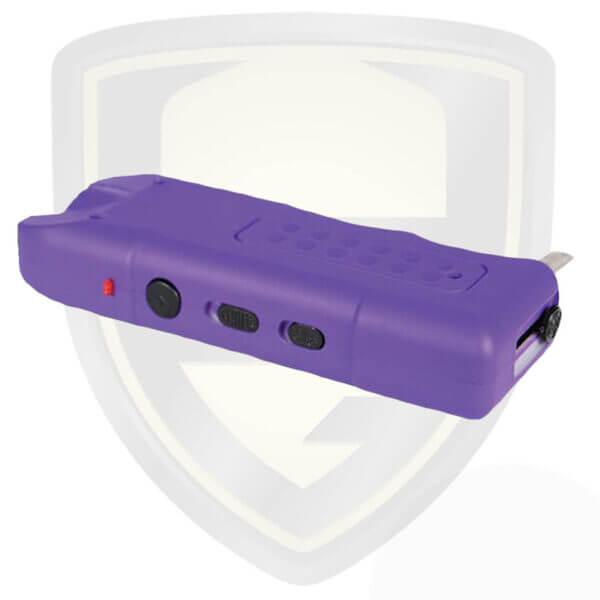 purple stun gun with alarm