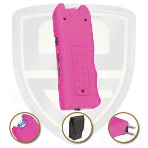 stun gun pink flashlight with alram