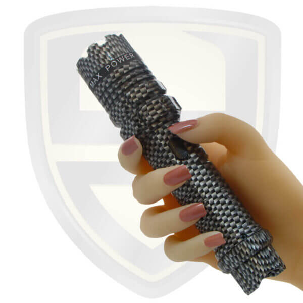police tazer flashlight carbon fiber