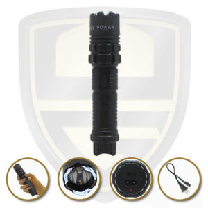 stun gun tactical flashlight black