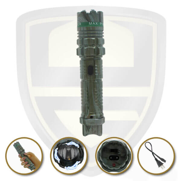 stun gun tactical flashlight camouflage