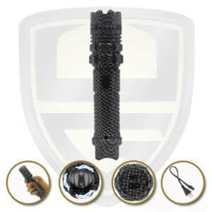 stun gun tactical flashlight carbon fiber