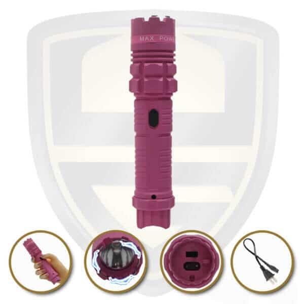stun gun tactical flashlight pink