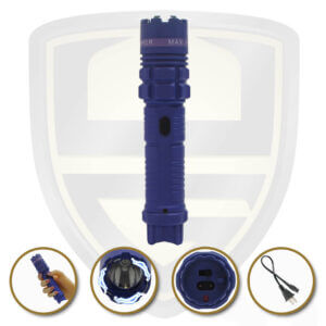 stun gun tactical flashlight purple
