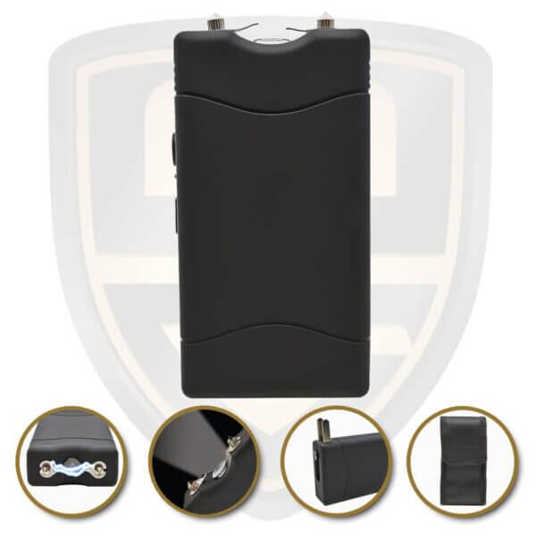 small stun gun black rechargeable