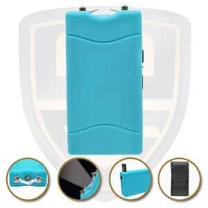 small stun gun blue teal rechargeable
