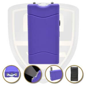 small stun gun purple rechargeable