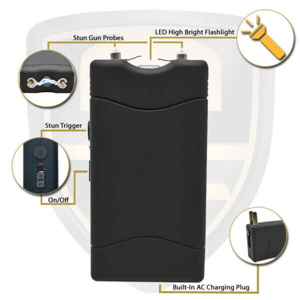 small taser black rechargeable